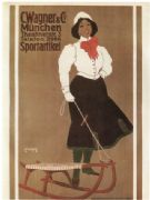 Vintage C.Wagner & Co. Munchen Sportartikel Advertising Poster.